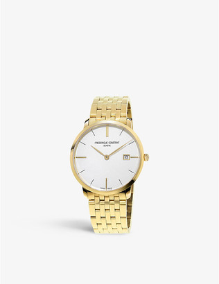 Frederique Constant FC220V5S5 Slimline yellow gold-plated stainless steel watch
