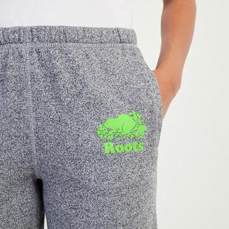 Roots Original Sweatpant Neon Green Logo