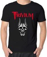 Shawan12drew Trivium Silence In The Snow Strife Logo Man O-neck Short-Sleeve Screen-Print T-shirt