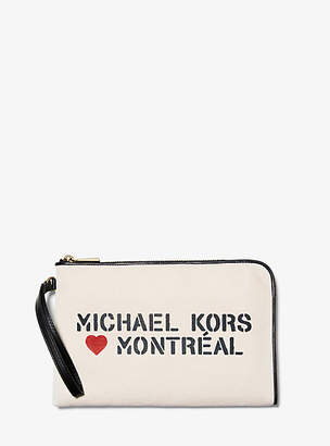 Michael Kors The Michael Medium Canvas Montreal Pouch