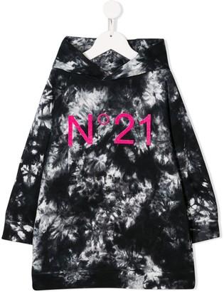 No21 Kids Tie-Dye Logo Hoodie