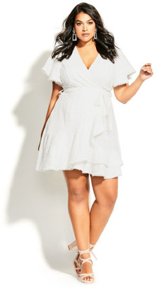 City Chic Sweet Love Lace Dress - ivory