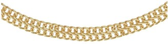 The Love Silver Collection Gold Plated Sterling Silver Double Curb Chain