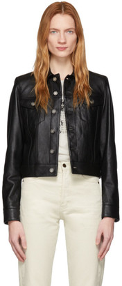 Saint Laurent Black Leather Classic Jacket