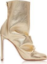 Nicholas Kirkwood Light Gold Metallic Nappa 105mm Darcy Ankle Boots