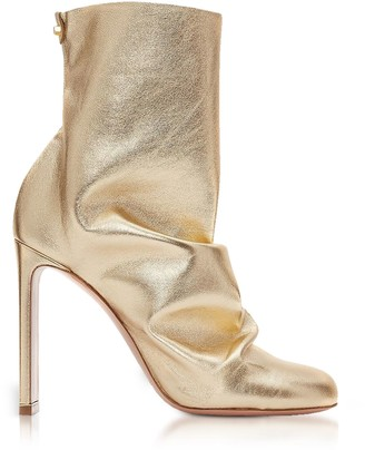 Nicholas Kirkwood Light Gold Metallic Nappa 105mm Darcy Ankle Boots