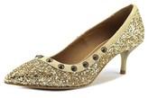 Nana Oro Women Pointed Toe Synthetic Gold Heels.