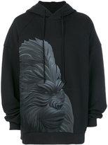 Juun.J ape print hoodie
