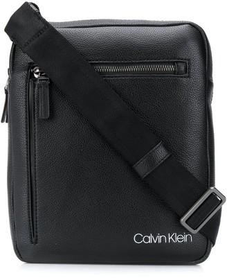 Calvin Klein Logo-Print Messenger Bag