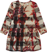 Burberry Floral check cotton dress 4-14 years