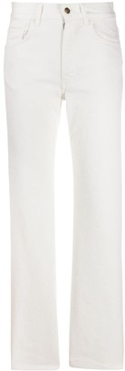 Alanui high rise straight leg jeans