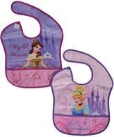 """Disney Princess """"Lil' Princess"""" 2-Pack Waterproof Bibs"""