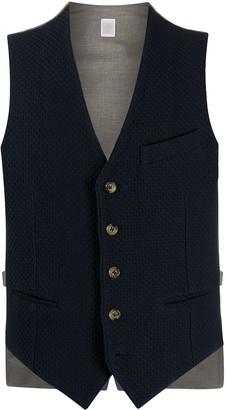Eleventy V-Neck Buttoned Waistcoat
