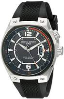 Jorg Gray Men's Quartz Watch with Black Dial Analogue Display and Black Silicone Strap JG8300-13