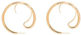 Panconesi Upside Down crystal hoop earrings