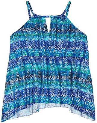 Miraclesuit Plus Size Curacao Peephole Top (Blue) Women's Swimwear