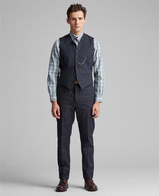 Ralph Lauren Pinstripe Herringbone Vest