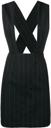 Comme des Garcons Pre-Owned pinstriped dungaree skirt