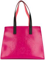 Kenzo patent shopping bag - women - Cotton/Nylon/Polyurethane - One Size