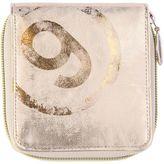 MM6 MAISON MARGIELA Laminated Faux Leather Zip Around Wallet