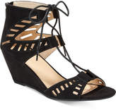 Material Girl Halona Perforated Wedge Sandals, Only At Macy's