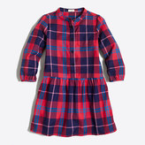 J.Crew Factory Girls' flannel shirtdress