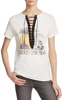 Vintage Havana Sun Meets Sea Lace Up Tee
