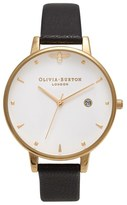 Olivia Burton Queen Bee Leather Strap Watch, 38mm