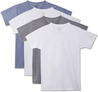 Fruit of the Loom Young Men'S Crew T-Shirt Pack of 4 Underwear
