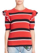 MSGM Striped Knit Top