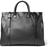 Giorgio Armani Full-grain Leather Holdall - Black