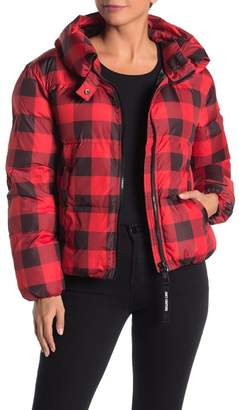 Juicy Couture Buffalo Plaid Funnel Neck Puffer Jacket
