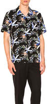 Stussy Floral S/S Button Down in Black. - size L (also in M,S,XL)