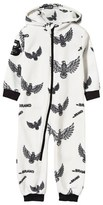 The BRAND Off-White Eagle Print Fleece Onesie