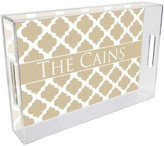 The Well Appointed House Chelsea Grande Tan Personalized Lucite Tray-Available in Two Different Sizes