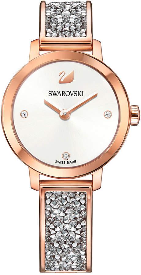 Swarovski Women's Swiss Cosmic Rock Crystal Rose Gold-Tone Bracelet Watch 29mm