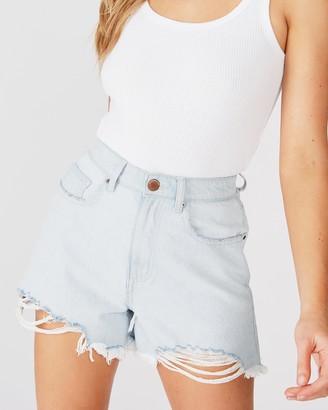Cotton On High-Rise Flashback Denim Shorts