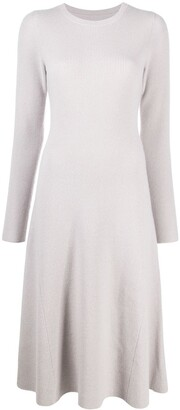 Yves Salomon Ribbed-Knit Fitted Dress