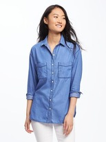 Old Navy Chambray Boyfriend Shirt for Women
