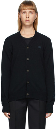 Acne Studios Black V-Neck Patch Cardigan