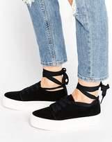 Asos DENVER Tie Leg Sneakers