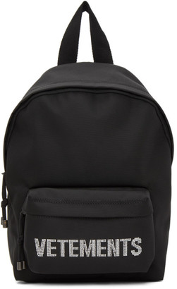Vetements Black Small Strass Backpack
