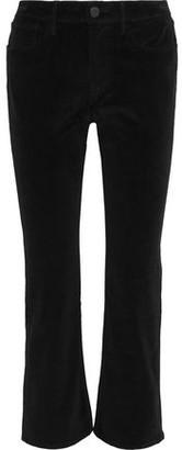 3x1 Cotton-blend Velvet Kick-flare Pants