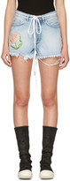 Off-White Blue Denim Tulip Shorts
