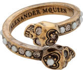 Alexander McQueen Jew. Twin Skull Ring