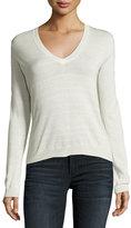 Theory Yulia V-Neck Sweater, White