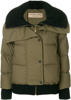 Burberry ribbed trim puffer jacket