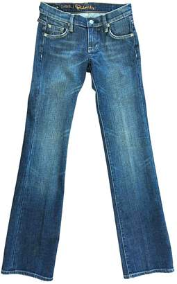 Fidelity Blue Cotton Jeans for Women