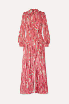 Paul & Joe Floral-print Satin Maxi Dress - Pink