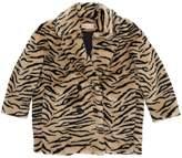 Tiger Printed Faux Fur Coat